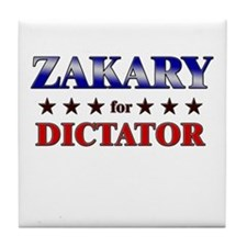 ZAKARY for dictator Tile Coaster