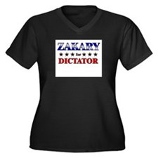 ZAKARY for dictator Women's Plus Size V-Neck Dark
