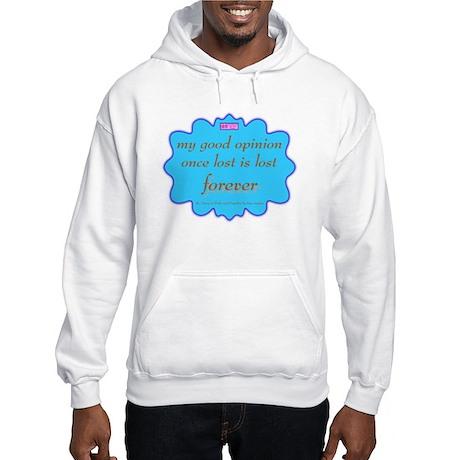 Good Opinion Two-Sided Hooded Sweatshirt