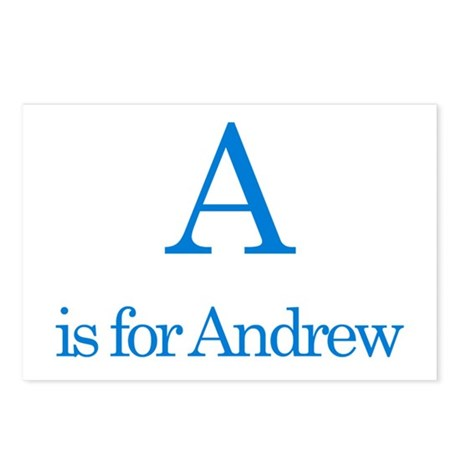 A is for Andrew Postcards (Package of 8)