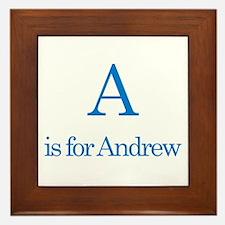 A is for Andrew Framed Tile