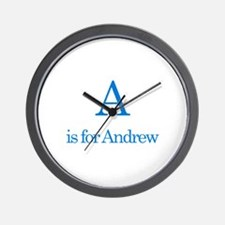 A is for Andrew Wall Clock