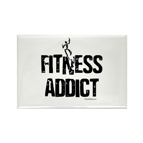 FITNESS ADDICT Rectangle Magnet (10 pack)
