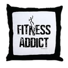 FITNESS ADDICT Throw Pillow