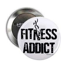 """FITNESS ADDICT 2.25"""" Button (10 pack)"""