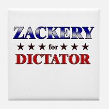 ZACKERY for dictator Tile Coaster