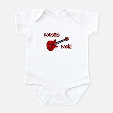 Cousins Rock! red guitar Infant Bodysuit
