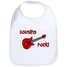 Cousins Rock! red guitar Bib