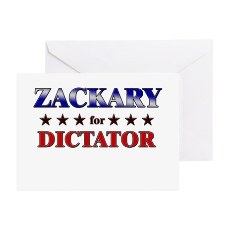 ZACKARY for dictator Greeting Cards (Pk of 10)