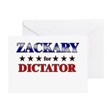 ZACKARY for dictator Greeting Card
