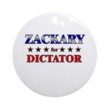 ZACKARY for dictator Ornament (Round)