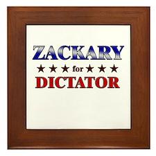 ZACKARY for dictator Framed Tile