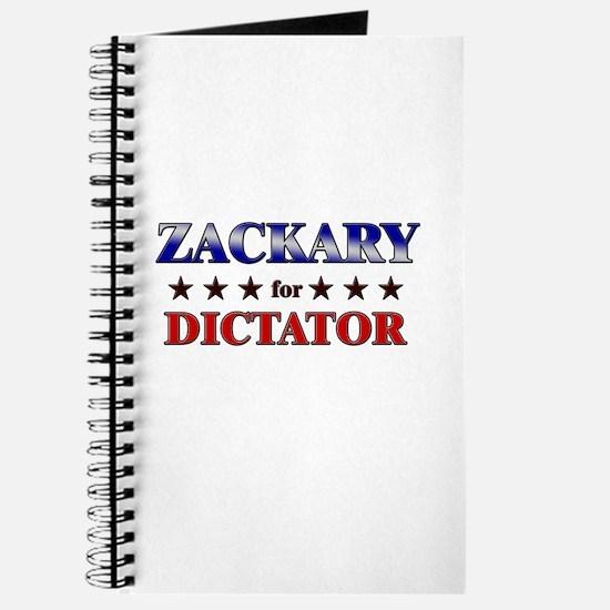 ZACKARY for dictator Journal