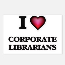 I love Corporate Libraria Postcards (Package of 8)