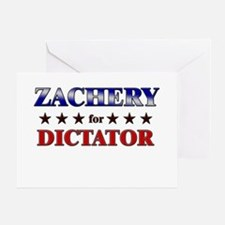 ZACHERY for dictator Greeting Card