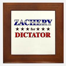 ZACHERY for dictator Framed Tile