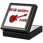 Little Sisters Rock! red guit Keepsake Box