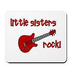 Little Sisters Rock! red guit Mousepad