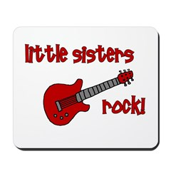 Little Sisters Rock! red guit Mousepad