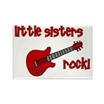 Little Sisters Rock! red guit Rectangle Magnet