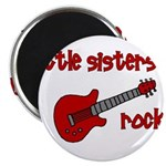 Little Sisters Rock! red guit Magnet