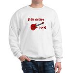 Little Sisters Rock! red guit Sweatshirt