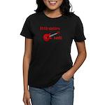 Little Sisters Rock! red guit Women's Dark T-Shirt