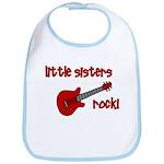 Little Sisters Rock! red guit Bib