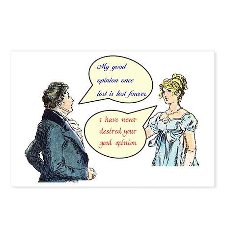 "Jane Austen ""good opinion"" Postcards"