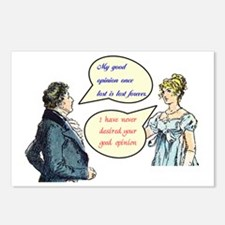 "Jane Austen ""good opinion"" Postcards"