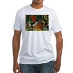 3 Cats Expressionist Pet Fitted T-Shirt