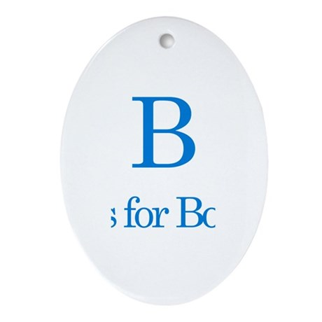 B is for Bob Oval Ornament