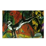 3 Cats Expressionist Pet Postcards (Package of 8)