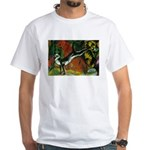 3 Cats Expressionist Pet White T-Shirt