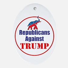 Republicans against Donald Trump Oval Ornament