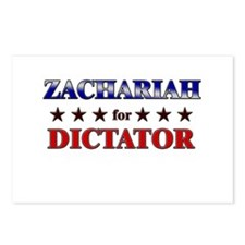 ZACHARIAH for dictator Postcards (Package of 8)