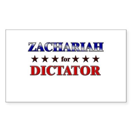 ZACHARIAH for dictator Rectangle Sticker
