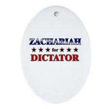 ZACHARIAH for dictator Oval Ornament