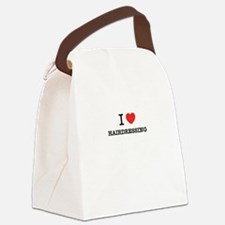 I Love HAIRDRESSING Canvas Lunch Bag