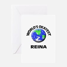 World's Okayest Reina Greeting Cards