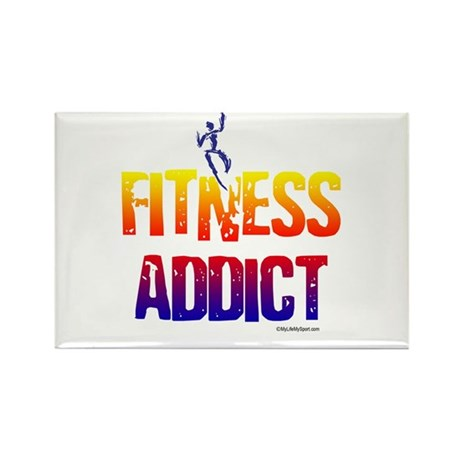 FITNESS ADDICT Rectangle Magnet (100 pack)