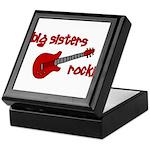 Big Sisters Rock! red guitar Keepsake Box