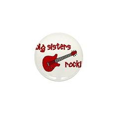 Big Sisters Rock! red guitar Mini Button
