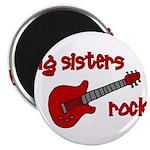 Big Sisters Rock! red guitar Magnet
