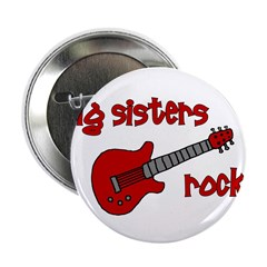 Big Sisters Rock! red guitar 2.25