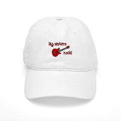 Big Sisters Rock! red guitar Baseball Cap