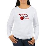 Big Sisters Rock! red guitar Women's Long Sleeve T