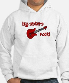 Big Sisters Rock! red guitar Hoodie