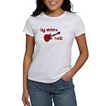 Big Sisters Rock! red guitar Women's T-Shirt