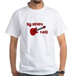 Big Sisters Rock! red guitar White T-Shirt